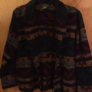 Gently worn multi colored jacket.